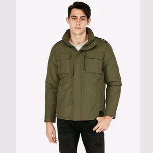 Express Men's Olive Green Nylon Five Pocket Jacket
